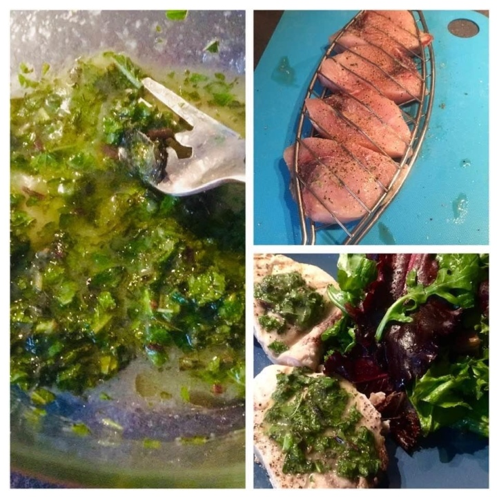 Swordfish & Herb Salsa Verde Italian food on the grill