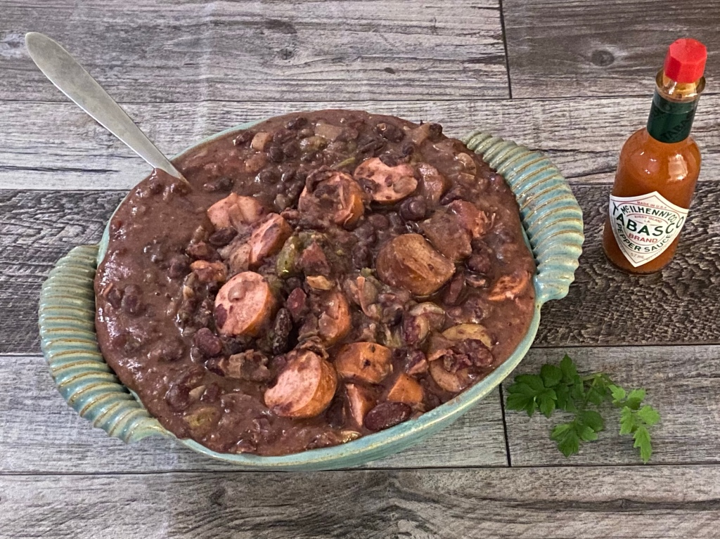 Slow-cooker red beans and rice.