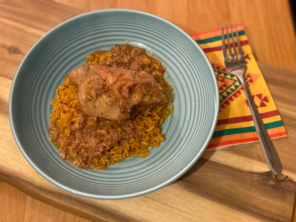 Slow cooker Mexican chili peanut chicken