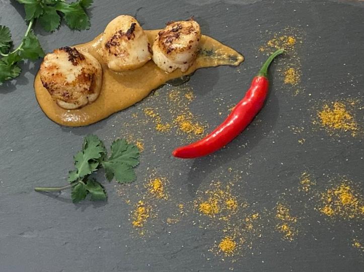Indonesian Scallop Satay Appetizer